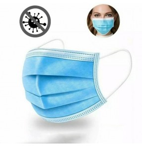 50PCS 3 layers disposable medical face masks safety mouth mask protection against flu bacteria dust proof anti- droplets with CE certification