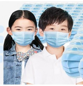 50PCS Kids children 3 layers Disposable face Masks Ear loop safe breathable Face Masks Filter dust droplets against flu CE Certified
