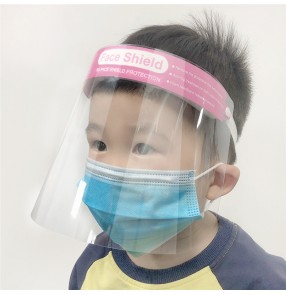 5pcs Kids anti-spray saliva spitting Face shield for kids both side anti-fog HD protective isolation face cover mask for boy and girls