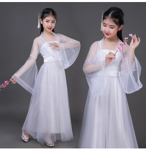 Girls chinese folk dance fairy dresses ancient traditional princess korean japanese kimono dresses stage performance anime drama cosplay robes