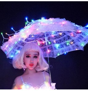 Led light jazz dance umbrella photos studio singers dancers stage performance show model stage performance led umbrella props