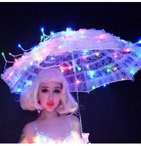 Led light jazz dance umbrella photos studio singers dancers stage performance show model stage performance led umbrella props