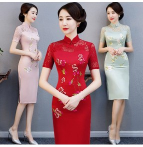 Women's chinese dresses traditional chinese style qipao dresses traditional oriental style cheongsam dresses host singer model show performance dress