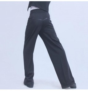 Men's latin ballroom dancing pants rumba salsa chacha flamenco waltz tango dance trousers