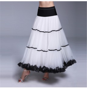 Women's girls  ballroom dancing skirts stage performance competition professional female waltz tango foxtort dance skirts