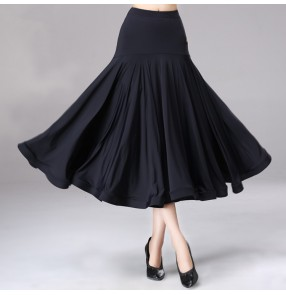Women's girls modern dance ballroom dancing skirts stage performance foxtrot tango waltz dance flamenco skirts
