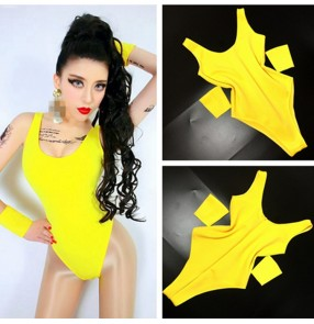 Women's candy colored ds singers jazz dance bodysuits stage performance modern dance hiphop dancers jumpsuits leotards