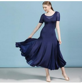 Women's navy ballroom dancing dresses waltz tango dance dress