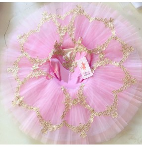 Girls kids classical ballerina professional ballet dance dress tutu skirts