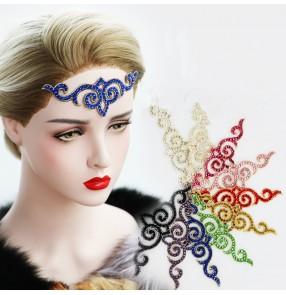 Women's rhinestones bling competition ballroom latin dance headdress hair accessories