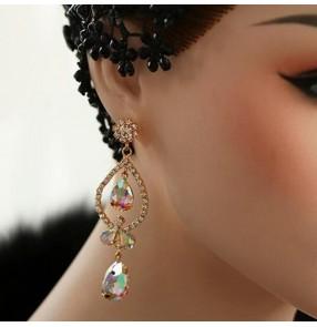 Women's diamond competition ballroom latin dance earrings one pair