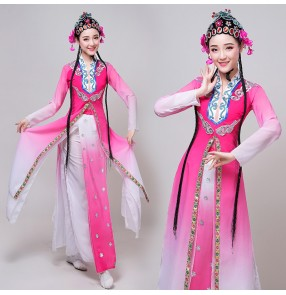 Women's chinese folk dance costumes beijing opera drama performance dress pecking opera drama cosplay dresses
