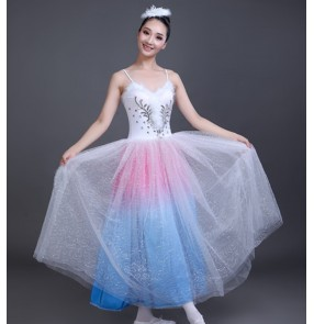 Women's modern dance ballet dance dress long length stage performance ballet dance costumes
