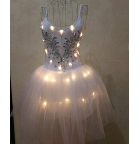 Women's girls led light modern dance ballet dress stage performance ballet dance costumes
