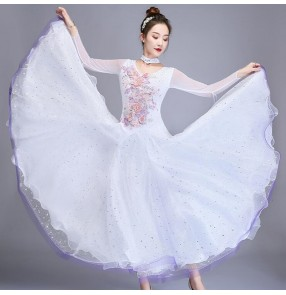 Women's competiiton ballroom dancing dresses stage performance waltz tango dancing dresses