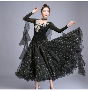 Women's competition ballroom dancing dresses waltz tango rhythem dance costumes dress
