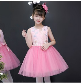 Girls kids princess dress jazz dance dress school competition ballet chorus dress stage performance drama cosplay dress
