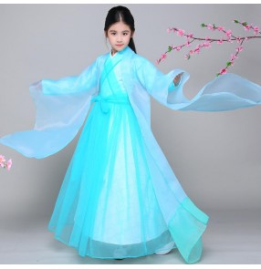 Traditional Chinese Hanfu fairy dresses for girls children princess christmas party drama cosplay kimono dresses