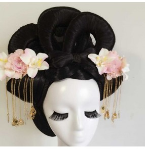 Women's chinese tang dynasty empress wig headdress ancient traditional fairy princess cosplay wig