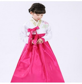 Kids children hanbok Korean style folk dance dresses traditional anime kimono Japanese drama anime cosply photos dresses