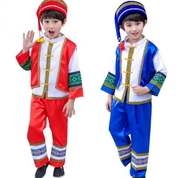 453dd9bc7ad classical traditional chinese dance costumes for boy children miao hmong clothes  traditional hmong clothes china national clothing