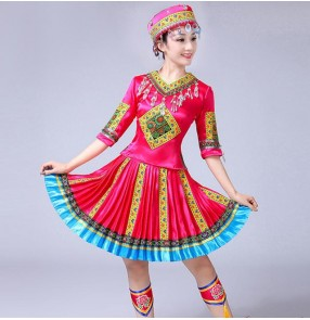 chinese folk dance costumes classical traditional for women miao hmong traditional hmong-clothes china national clothing