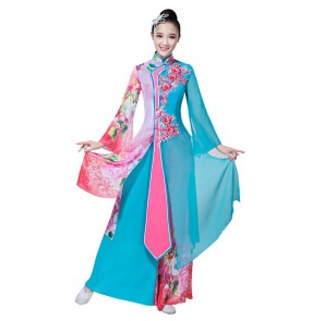 Chinese folk dance costumes for women competition stage performance yangko fairy photos dynasty drama cosplay dancing costumes