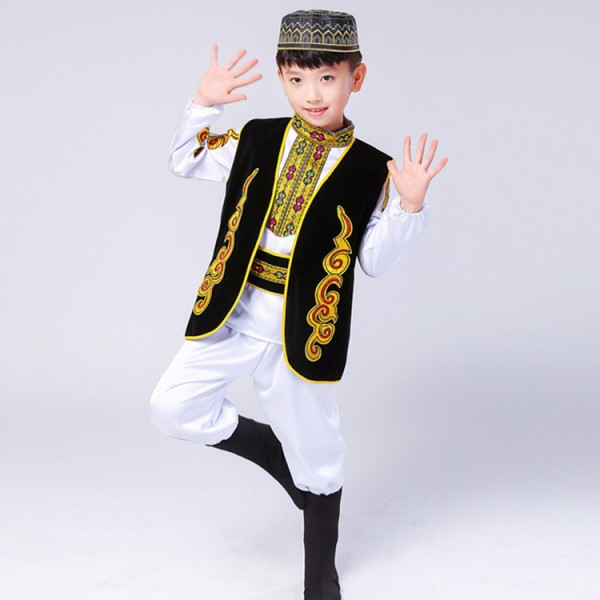 fa39e3826dce Boys chinese folk dance costumes for kids children china ancient ...