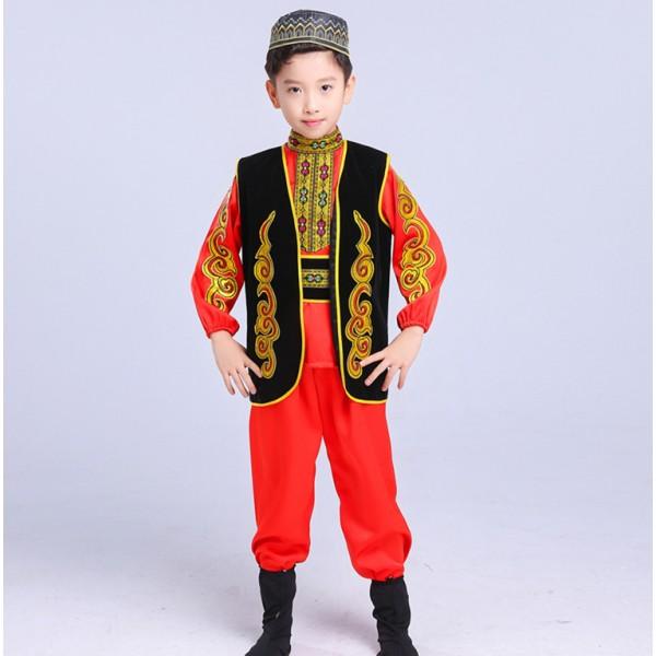 3cb1f7661560 Uighur Ethnic Minority Women Dance Costumes Dance Skirt Stage Dance ...