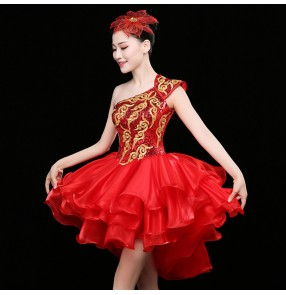 Women's jazz singers dance dresses paillette modern dance dj ds night club cocktail party performance photos competition dresses