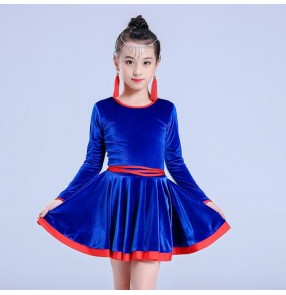 Girls latin dresses competition stage performance professional chacha rumba salsa dance dress costumes