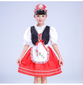 Girls Russian folk dance costumes European palace photos anime cosplay dresses for kids children stage performance costumes