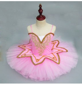 Ballet dress for girls pink white royal blue tutu skirt stage performance competition party cosplay modern dance ballet dancing dresses