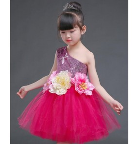 Modern dance jazz singers host chorus stage performance party cosplay dresses for kids children school competition dance studio dancing costumes
