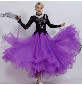 Custom size competition professional Ballroom waltz tango flamenco dresses for women female children