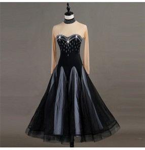 Women's adult children ballroom dancing dress for female stage performance rumba salsa chacha dancing costumes