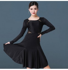 Women's latin dance dresses girls stage performance professional  latin salsa rumba chacha dance skirts dress