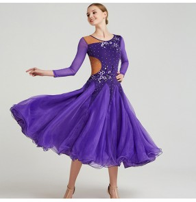 flamenco Competition stage performance waltz tango ballroom dance dresses for female lady professional practice dance skirt dress