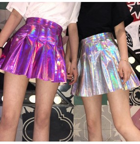 Women's jazz dance skirt modern dance pleated skirts for girls night club ds street hiphop cheerleaders stage performance competition skirts