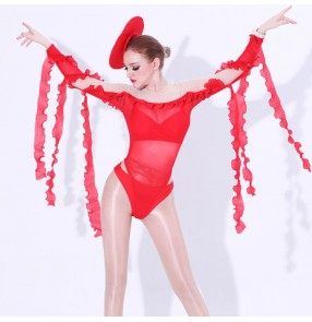 Women's jazz dance bodysuits night club dj ds singer stage performance gogo dancers street hiphop dance leotards outfits