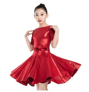 Girls latin dance dresses children modern dance stage performance rumba salsa samba chacha dance costumes