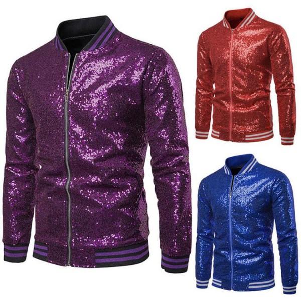 Men S Jazz Dance Jacket Paillette Gold Blue Red Silver