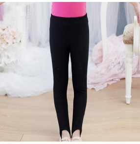 Children ballet dance pants cotton white black tutu practice gymnastics stage performance legging pants pantyhose for girls