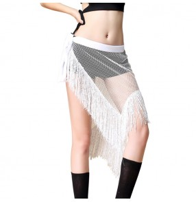 Women's belly dance wrap skirt mesh sexy fashion Indian belly dance stage performance gymnastics dance costumes hip scarf skirts