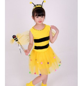Girls stage performance bee performance dresses competition singer chorus cartoon anime drama bee cosplay outfits dresses
