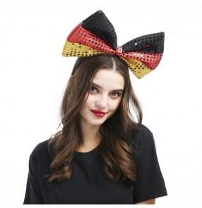 Women's stage performance modern dance night club bow headdress party drama photos cosplay hair clip hair accessories