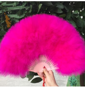 Women's folk dance feather fans modern dance show party stage performance drama cosplay fans