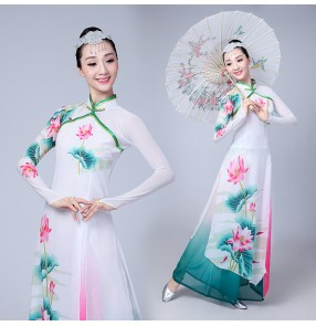 Chinese folk dance dresses for women female fairy princess fan umbrella traditional ancient classical dance costumes