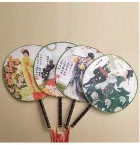 Chinese folk dance fans ancient traditional fairy princess fan dance performance classical dance fans one piece