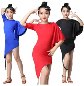 Girls latin dress salsa rumba chacha dance costumes stage performance dress